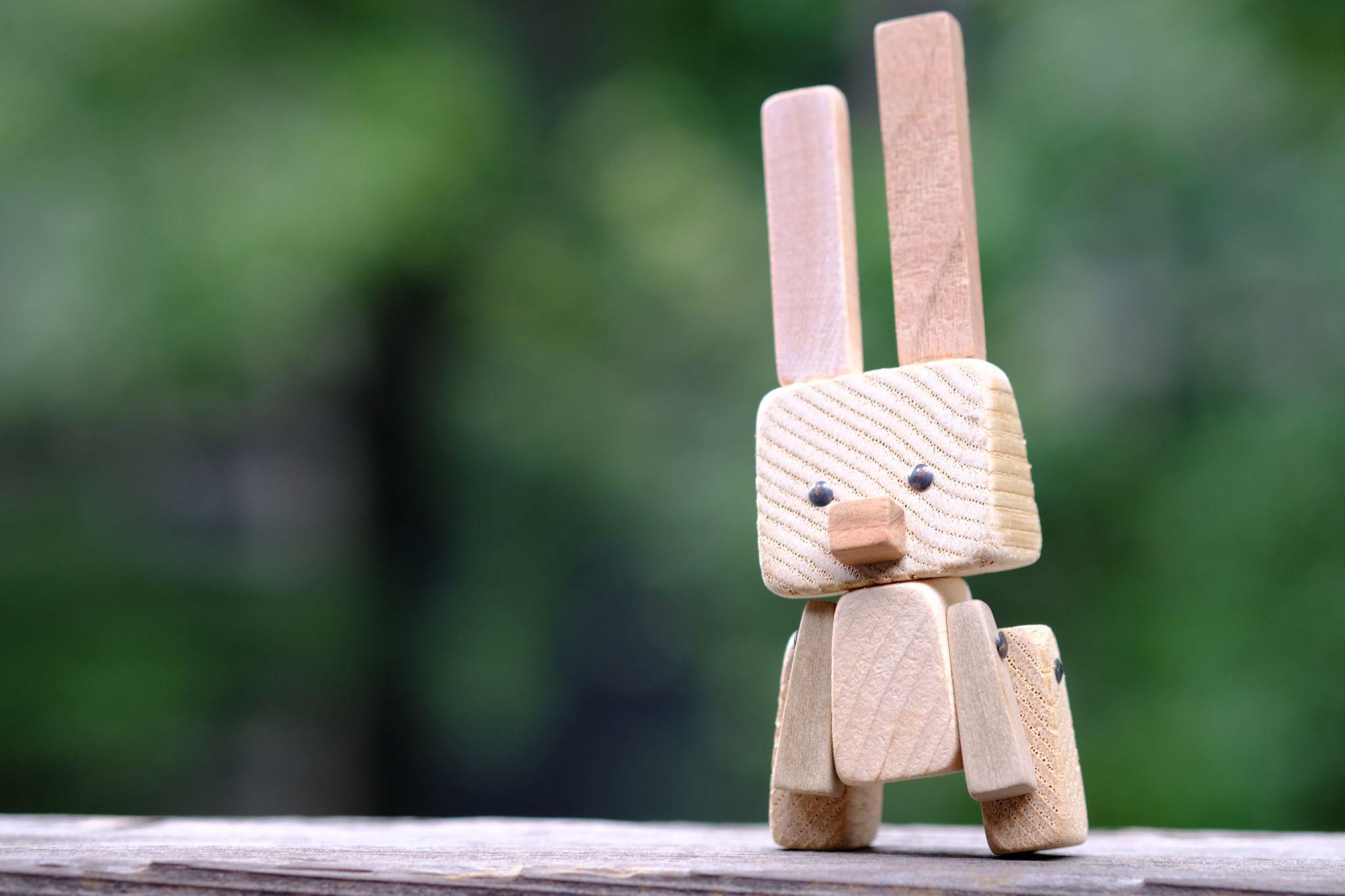 木っ端アート、ウサギのピョン
