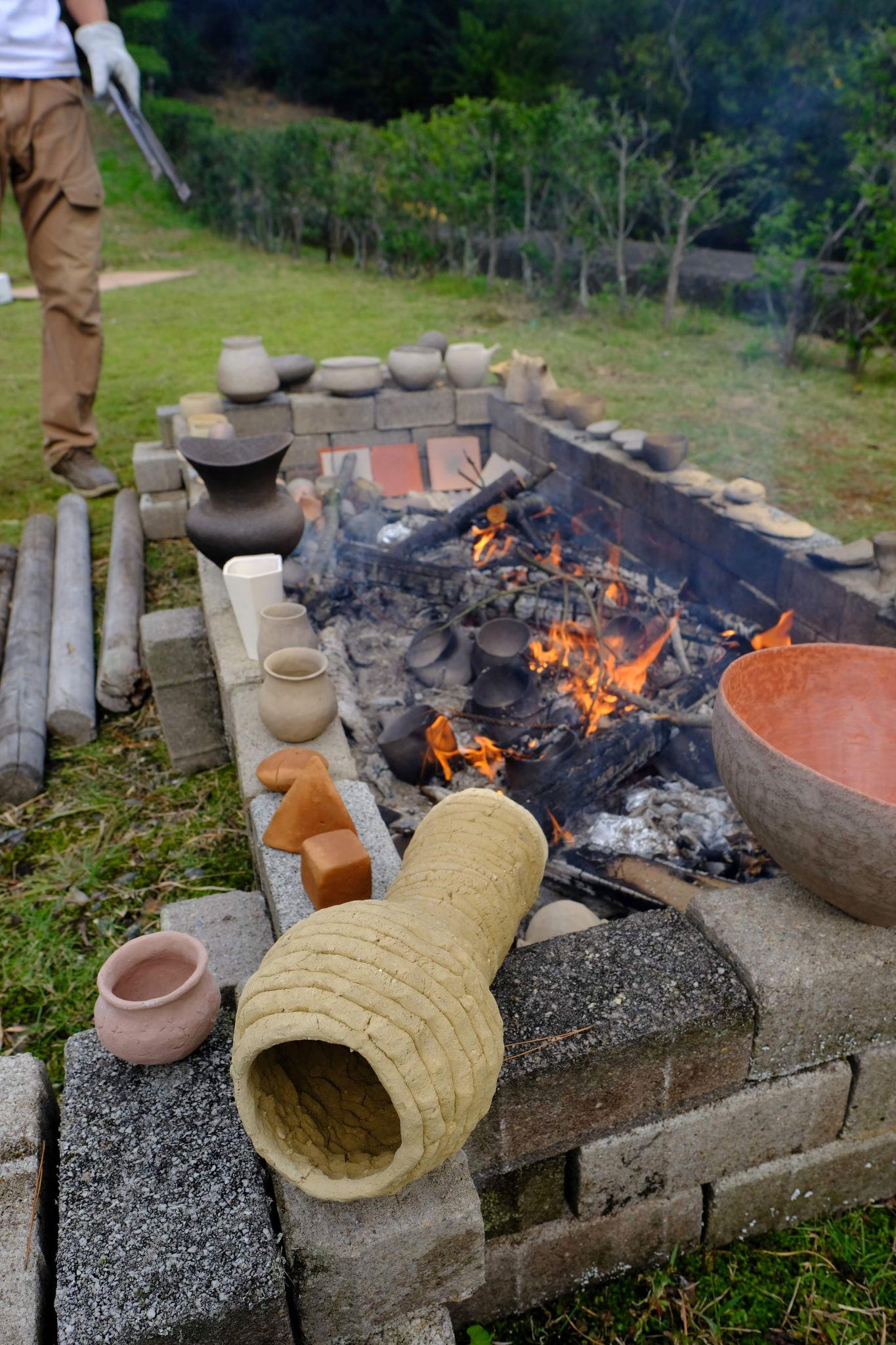 セラミックパークMINOで野焼き