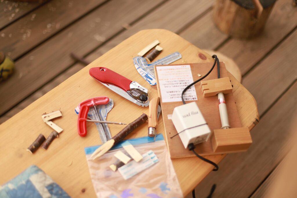 ナイフカフェの道具